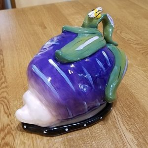Blue Sky Eggplant Butter Dish, 2011 Edition
